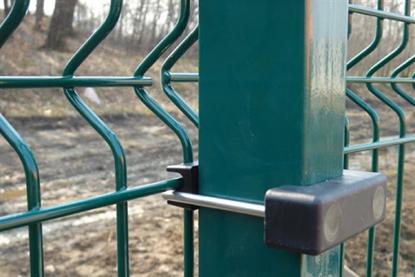 Stalp gard verde 2500 mm pentru sustinerea panourilor bordurate.