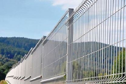 Panou gard zincat 1.5 x 2.5 m / 1500 x 2500, fir de 3.5 mm, pentru imprejmuiri