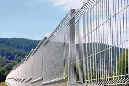 Panou gard zincat 1.7 x 2.5 m / 1700 x 2500, fir de 3.5 mm, pentru imprejmuiri