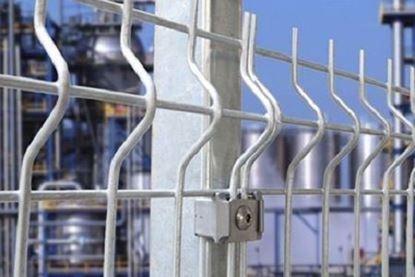 Stalp gard zincat 2250 mm pentru sustinerea panourilor bordurate.